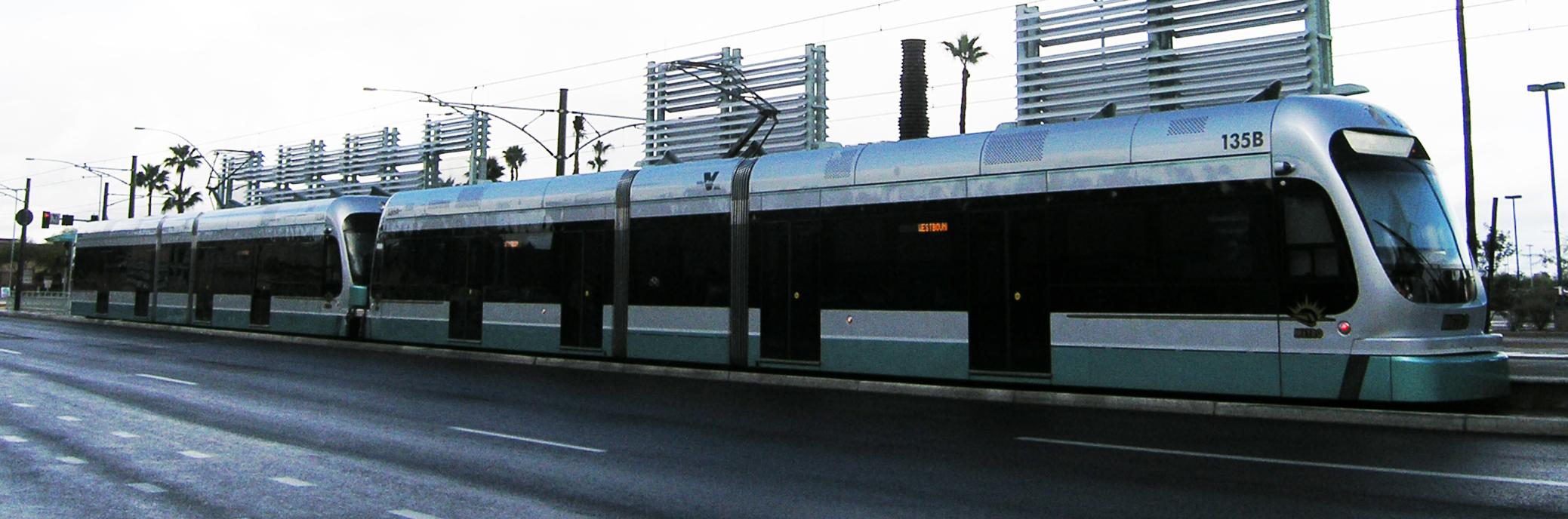 Phoenix valley metro light rail train