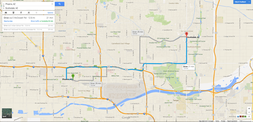 The New Google Maps The Pros Cons - Google maps arizona